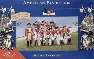 Accurate 3200 SET INFANTERIE ANGLAISE REVOLUTION AMERICAINE Plastic models 1:32