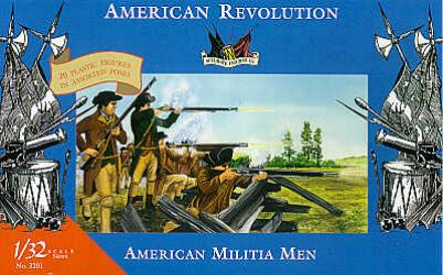 Accurate 3201 SET MILICE AMERICAINE REVOLUTION Plastic models 1:32