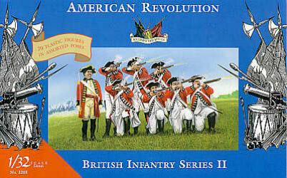 Accurate 3208 SET INFANTERIE ANGLAISE REVOLUTION AMERICAINE Plastic models 1:32