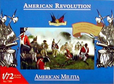 Accurate 7201 SET MILICE AMERICAINE REVOLUTION Plastic models 1:72