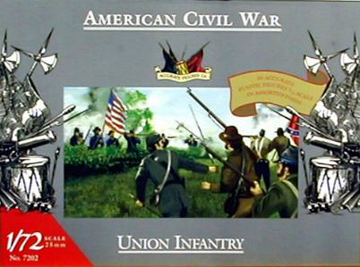 Accurate 7202 INFANTERIE UNION GUERRE CIVIL AMERICAINE Plastic models 1:72
