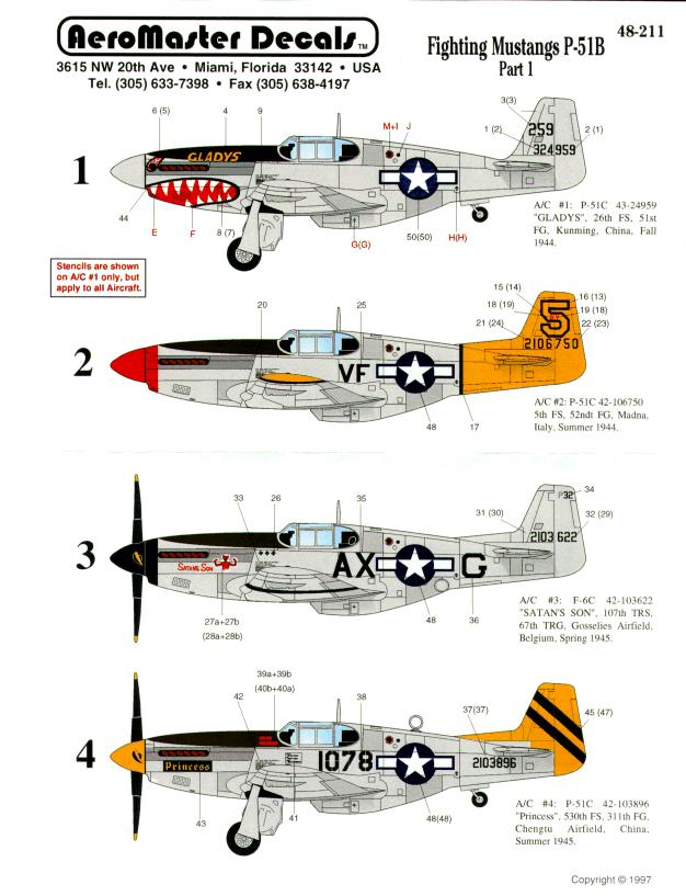 FIGHTING MUSTANGS P51 B PT I