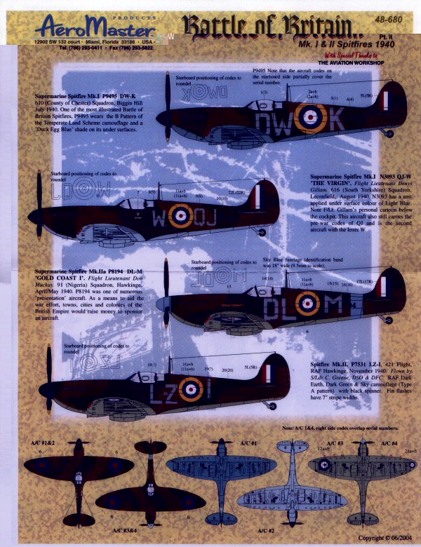 BATTLE BRITAIN SPITFIRE PARTIE II