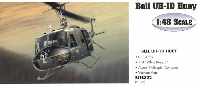 Armour B11B322 UH1 HUEY KNIG 98186 Die cast 1:48