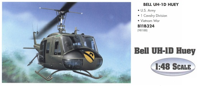 Armour B11B324 UH-1 HUEY 1ST CAV 98188 Die cast 1:48