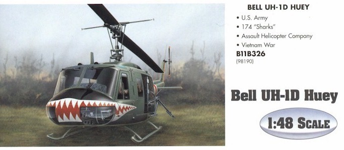 Armour B11B326 UH-1 HUEY SHARKS 98190 Die cast 1:48