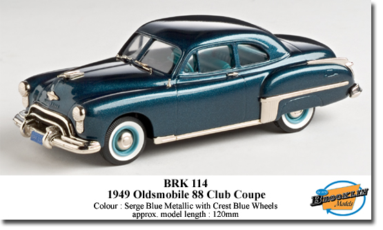 Brooklin K114 OLDSMOBILE 88 CLUB 1949 Miniatures 1:43
