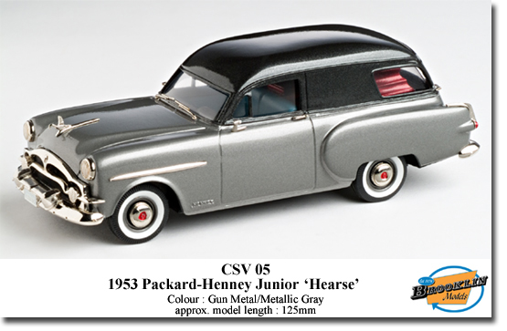 Brooklin KCSV05 PACKARD-HENNEY JUNIOR HEARSE 1953 Die cast 1:43