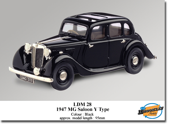 Brooklin LDM28 MG SALOON Y TYPE 1947 Miniatures 1:43