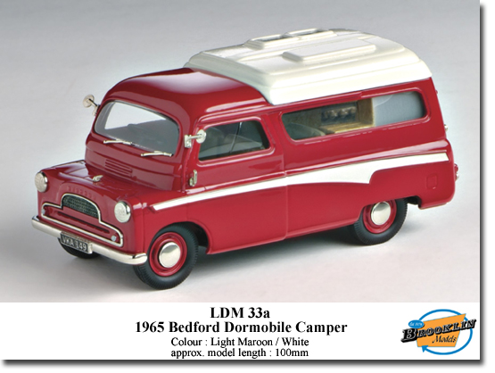 Brooklin LDM33A BEDFord DORMOBILE 1965 Miniatures 1:43