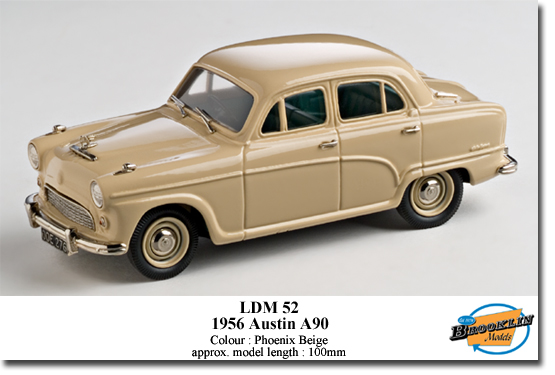 Brooklin LDM52 AUSTIN A90 1956 Miniatures 1:43