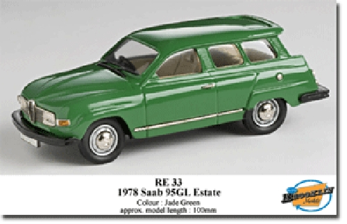 Brooklin RE33 SAAB 95 ESTATE 1978 Miniatures 1:43
