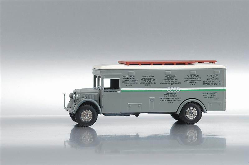 Bub 07350 NAG TRANSPORTEUR COMPETITION AUTO UNION Die cast 1:87