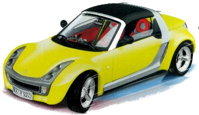 Burago 25021 Smart Roadster 2003 Die cast 1:24