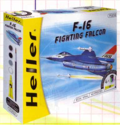 Heller 49904 F 16 FIGHTING FALCON K3 Maquettes 1:144