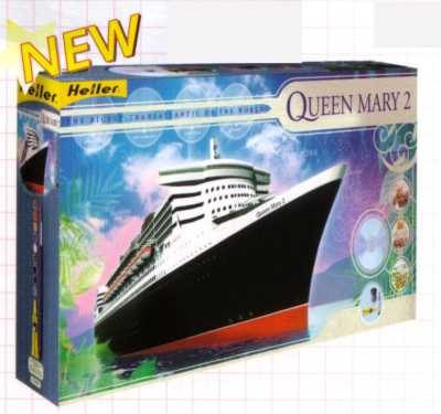 Heller 52902 QUEEN MARY II Maquettes 1:600