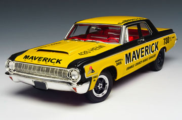 Highway 61 50300 Dodge 330 RACE 1964 MAVERICK Die cast 1:18