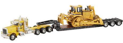 Norscot 55207 Peterbilt MOD 389 + Caterpillar D8R Miniatures 1:50