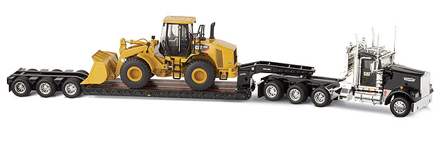 Norscot 55208 Caterpillar 950 H + KENWORTH W 900 Miniatures 1:50
