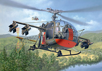 Revell 04478 ALOUETTE II PAH ATTACK Plastic models 1:32