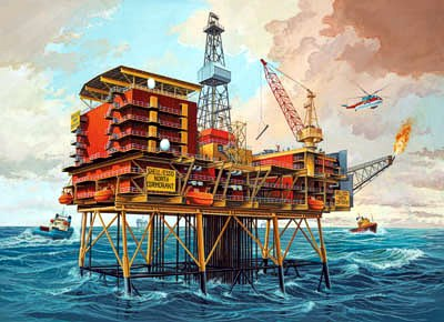 Revell 08803 PLATEFORME PETROL.OILRIG Maquettes 1:200