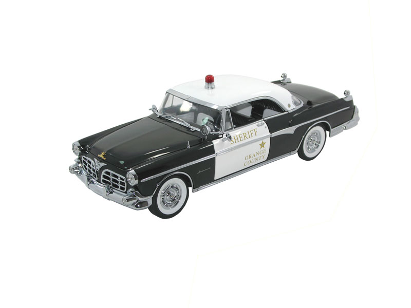 Signature CT68642 CHRYSLER IMPERIAL 1955 Police Die cast 1:18