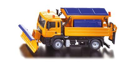 Siku  Modèle réduit en métal : Tracteur avec lame et épandeur de sel  pas