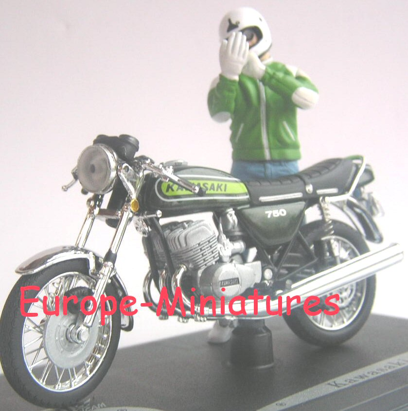 Solido 88001 KAWASAKI 750 H2 FIGURINE JEAN RAOUL DUCABLE (JOE BAR TEAM) Miniatures 1:18