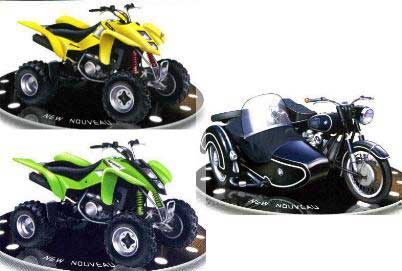 Solido 88600 Assortiment QUAD ET SIDE CAR X 12 Miniatures 1:18