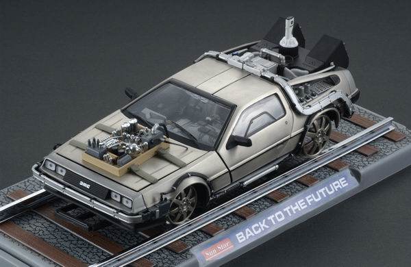 Sunstar 2714 De Lorean (Back to the Future 3) Die cast 1:18