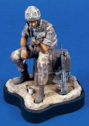Verlinden 0650 SOLDAT BRITISH + RAT DESERT 120 MM Maquettes