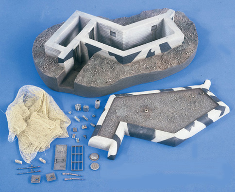 Verlinden 2135 BUNKER MUR ATLANTIQUE Plastic models 1:35